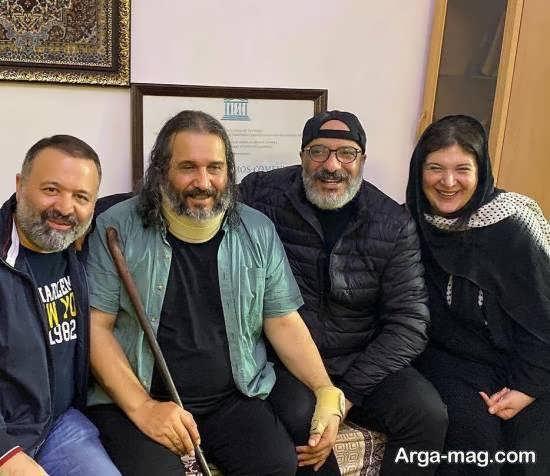 عیادت امیر جعفری و همسرش ریما رامین فر از عمو فردوس
