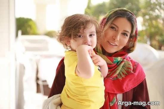رونمایی فریبا نادری بازیگر از تصویر دخترش