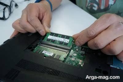 چگونگی نصب قطعه رم به سیستم لپ تاپی