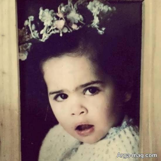 انتشار عکس دوران کودکی ملیکا شریفی نیا به قول خودش دوران بی دماغی