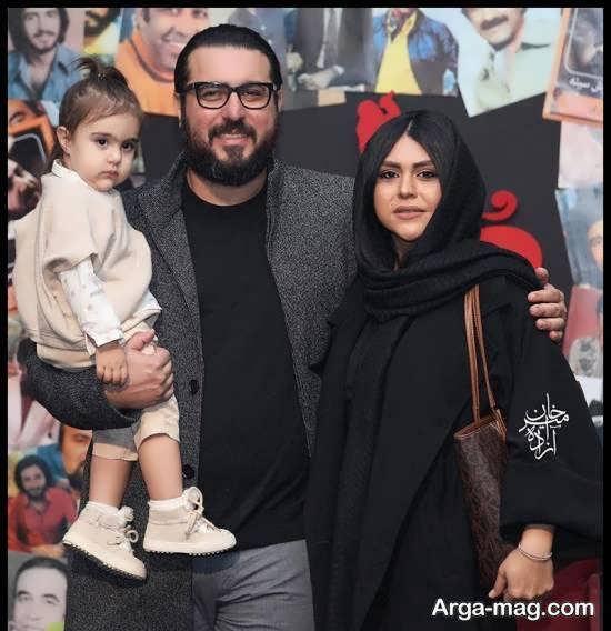 حضور محسن کیایی و همسر و دخترش در اکران خصوصی فیلم مطرب