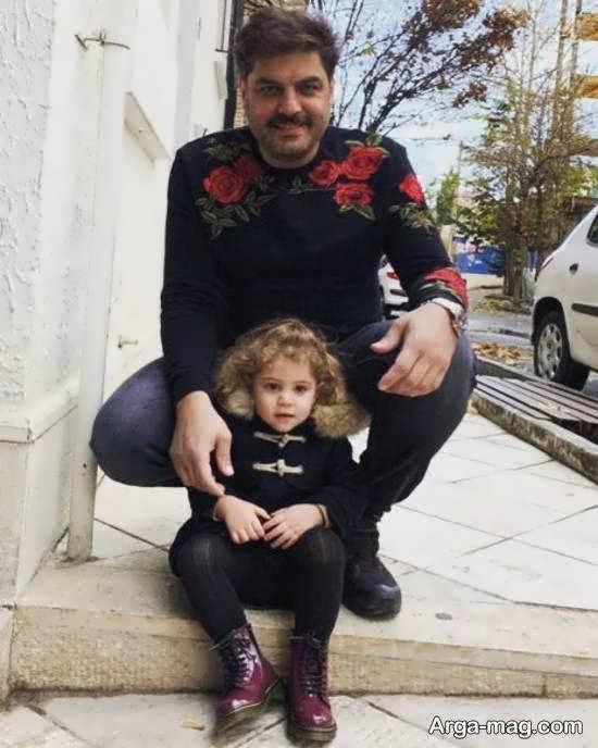 تصویر منتشر شده از سام درخشانی و دخترش با نام برکه در روز تولد او