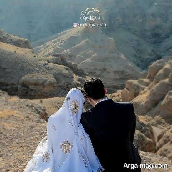 عروس شدن سوگل طهماسبی با لباس بختیاری