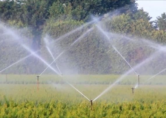 آبیاری زمین کشاورزی