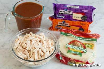 مواد لازم برای تهیه آنچیلادا