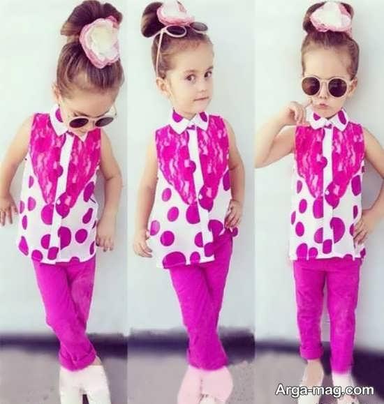 مدل جذاب لباس اسپرت برای دختر بچه ها
