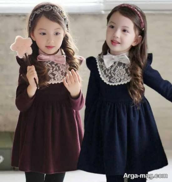 لباس کودکانه مجلسی زیبا برای دختر بچه ها
