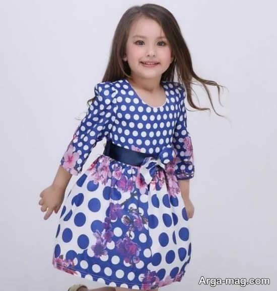 طرح زیبای لباس کودکانه مجلسی