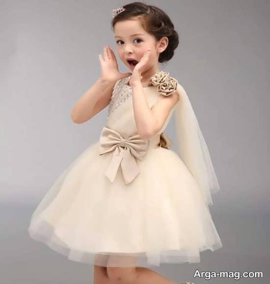 مدل لباس عروس کودکانه مجلسی+عکس
