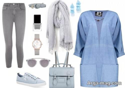 ست لباس آبی دخترانه