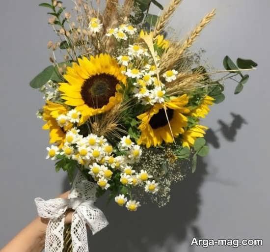 تزیین گل های آفتابگردان