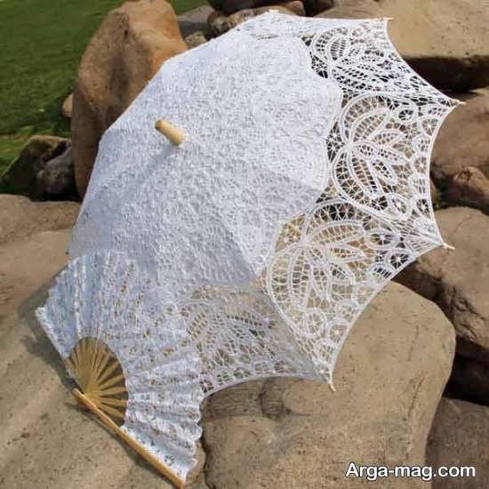 چتر سفید توری