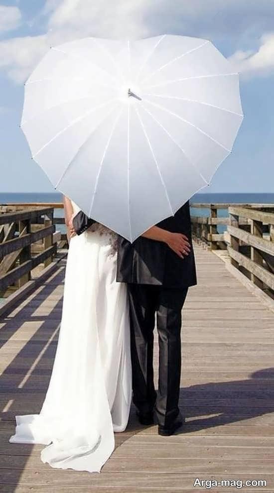طرح قلبی چتر عروس