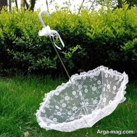 چتر عروس توری و شیک