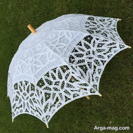 چتر عروس با طرح قشنگ