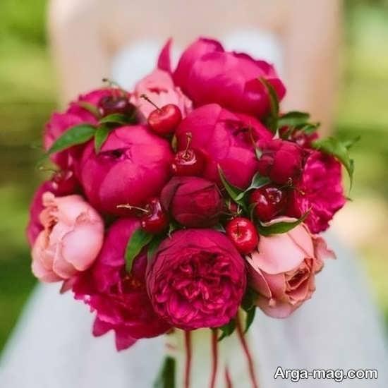 گل های رز صورتی و زیبا مخصوص عروس