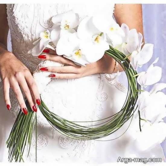 دسته گل عروس با تزئینات زیبا و شکیل