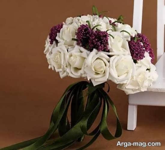 دسته گل عروس با تزئینات مدرن