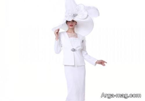 کت دامن سفید و شیک برای عروس