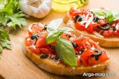 بروشتا پیش غذای ایتالیایی
