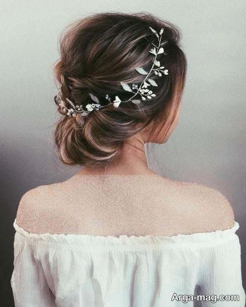 مدل شینیون موی بسته عربی