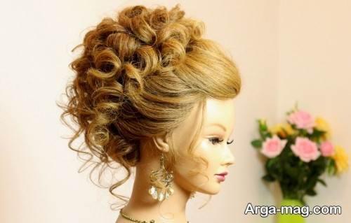 مدل آرایش موی عربی مخصوص خانم های جذاب