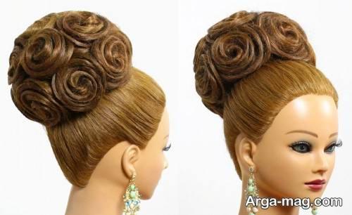 مدل شینیون گل عربی زنانه