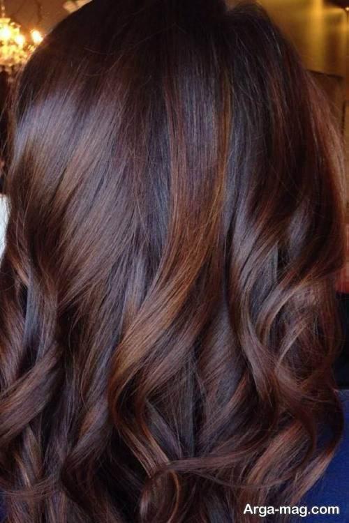 رنگ مو شکلاتی کاراملی زنانه