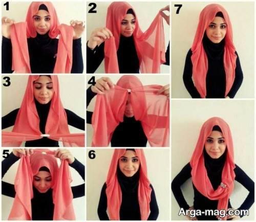 بستن روسری بزرگ و بلند با روش های متفاوت