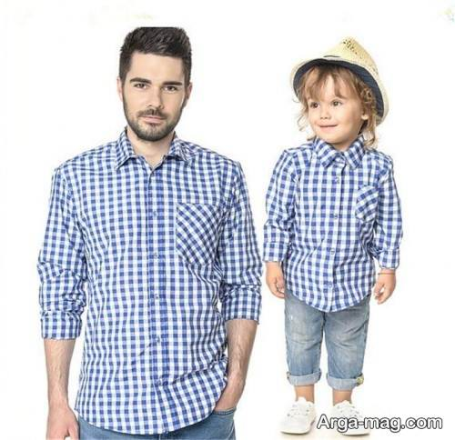 پیراهن طرح دار برای پدر و پسر
