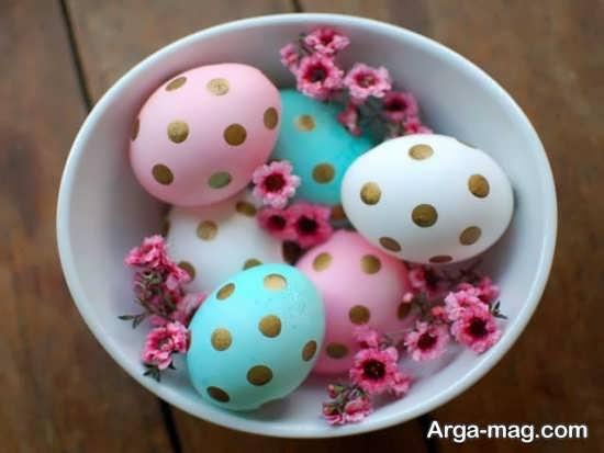 تخم مرغ رنگ شده برای هفت سین