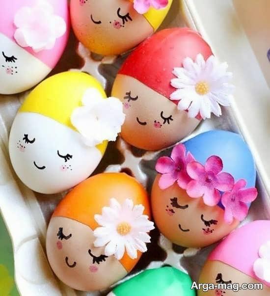 ایده جذاب و زیبای رنگ آمیزی تخم مرغ