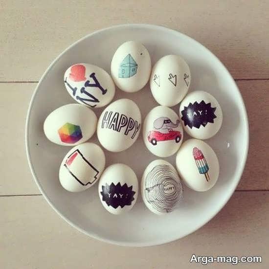 تخم مرغهای رنگ آمیزی شده زیبا