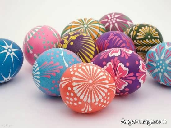 تزیین تخم مرغهای رنگی