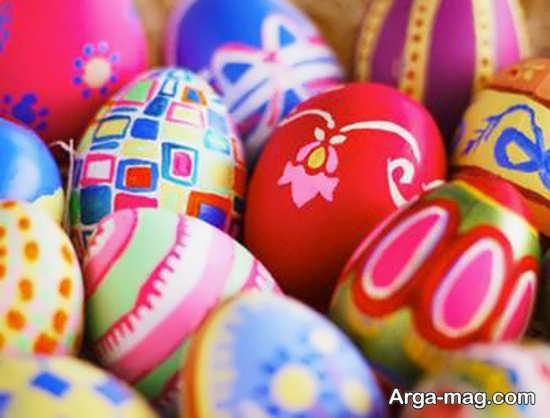 مدل تخم مرغهای رنگی