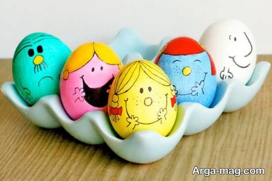 رنگ آمیزی فانتزی تخم مرغ