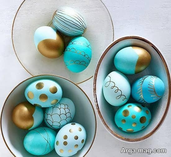 رنگ زدن تخم مرغ