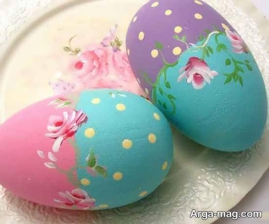 تخم مرغ های رنگ شده