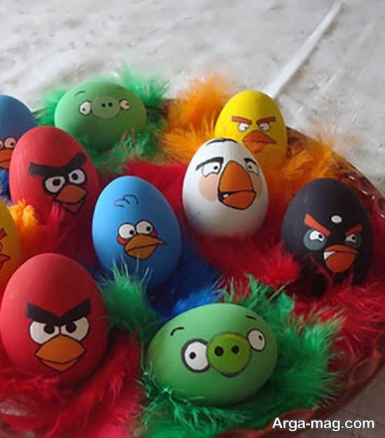 تخم مرغ رنگ شده