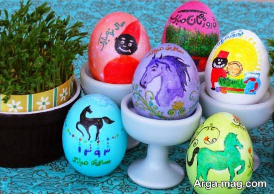عکس تخم مرغ رنگ شده