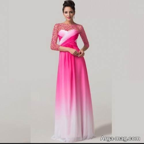 لباس دکلته دو رنگ