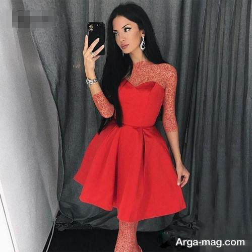 مدل لباس دکلته کوتاه