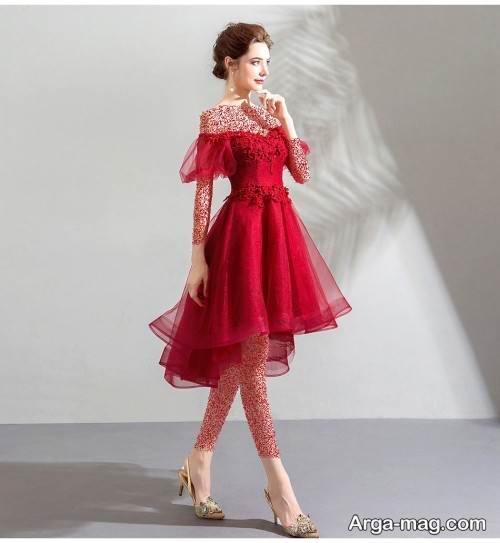 لباس قرمز دکلته