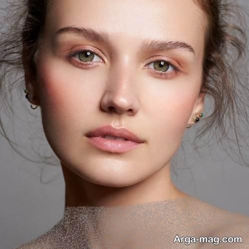 آرایش صورت ملایم و زیبا