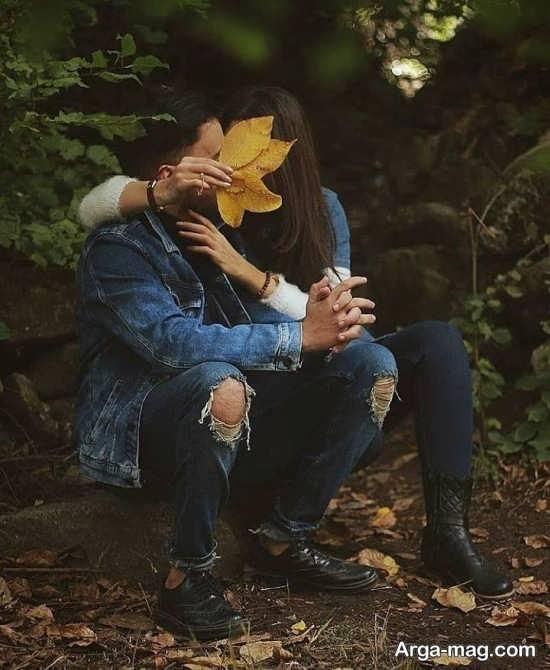 عکس دونفره بدون متن عاشقانه پاییزی