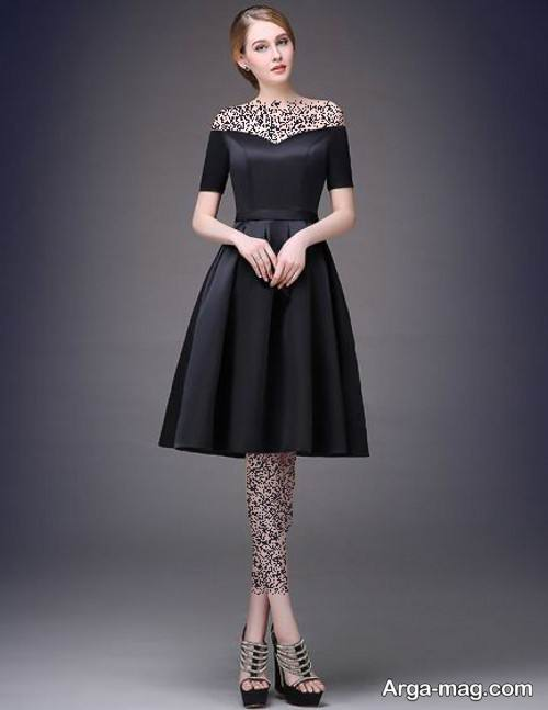 لباس مجلسی رنگ تیره