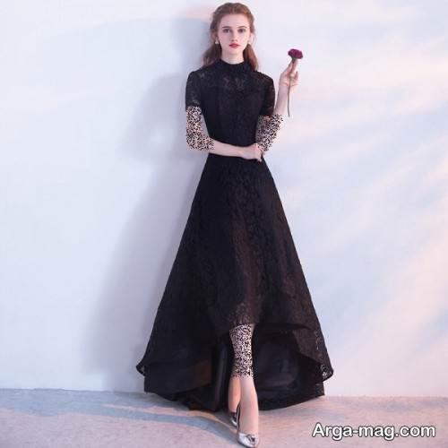 لباس مجلسی دخترانه رنگ تیره