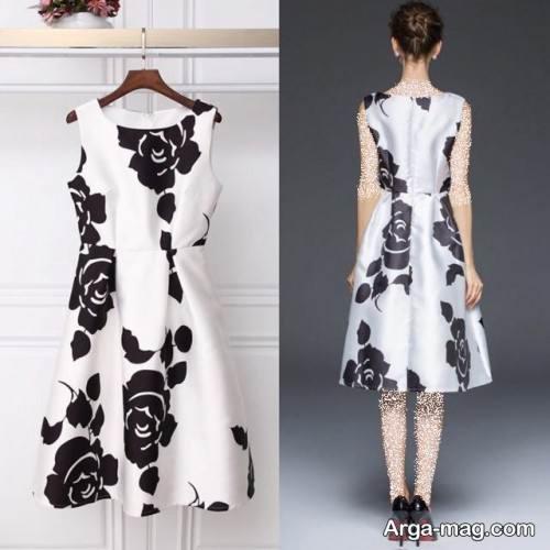 لباس مجلسی دخترانه دو رنگ