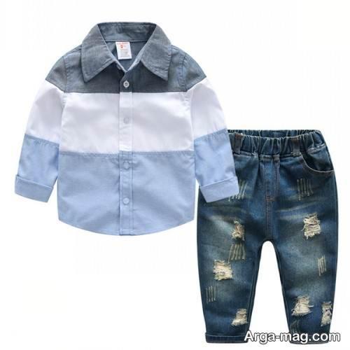 مدل پیراهن و شلوار اسپرت بچه گانه