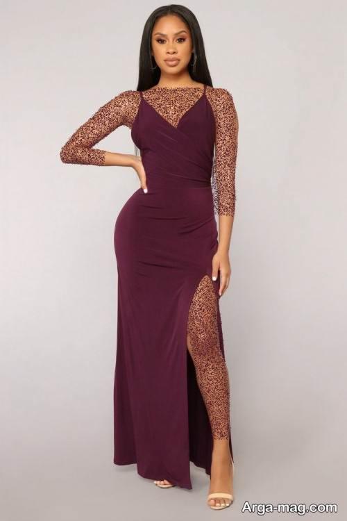 مدل لباس شب بلند زنانه میانسال